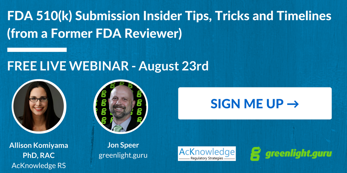 FDA 510(k) Submission Webinar