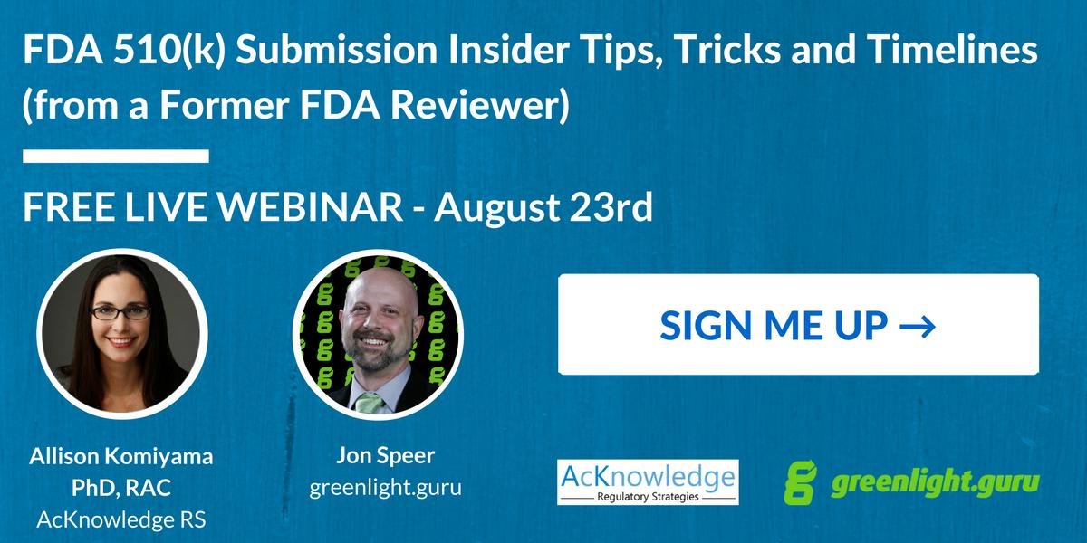 FDA 510(k) Submission Webinar