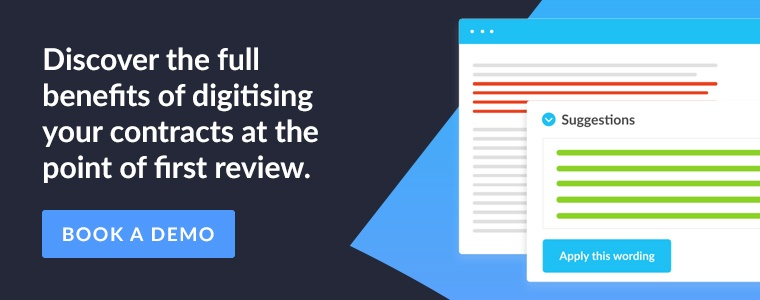 Discover the full benefits of digitising your contracts at the point of first review. Book a demo