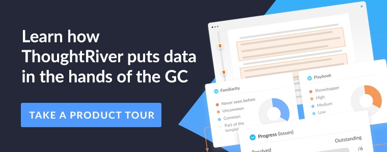 Learn how ThoughtRiver puts data in the hands of the GC.   Take a product tour