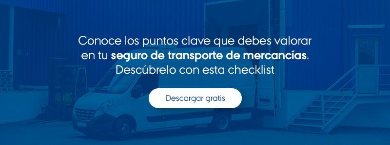Checklist seguro de transporte de mercancías