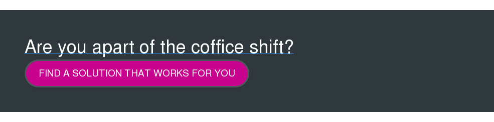 Are you apart of the coffice shift? Find a solution that works for you  <http://www.condecosoftware.com/products/workspace-occupancy-sensor/>