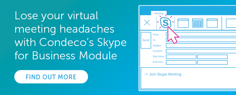 Condeco's Skype for Business Module
