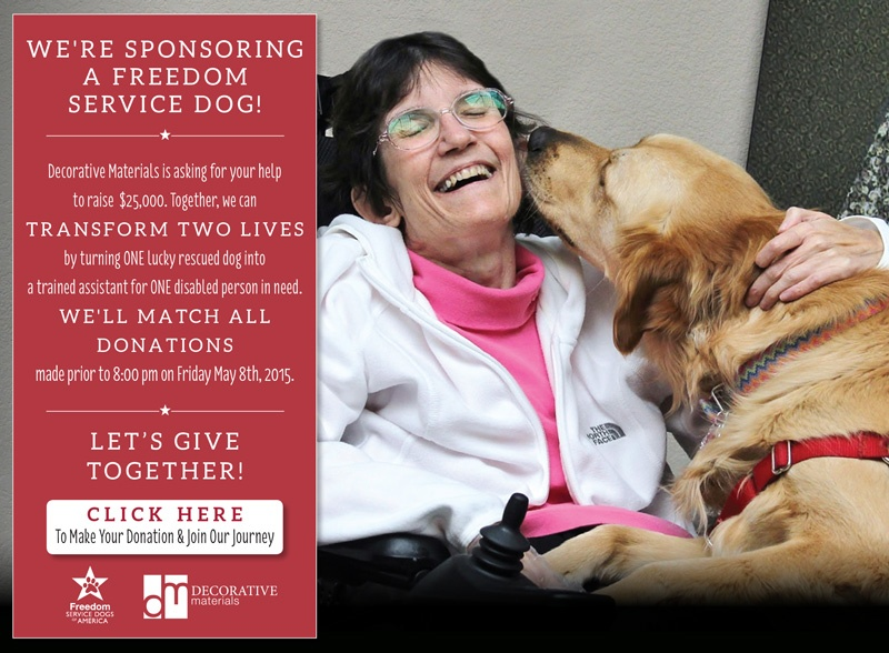 Decorative Materials | Freedom Service Dogs