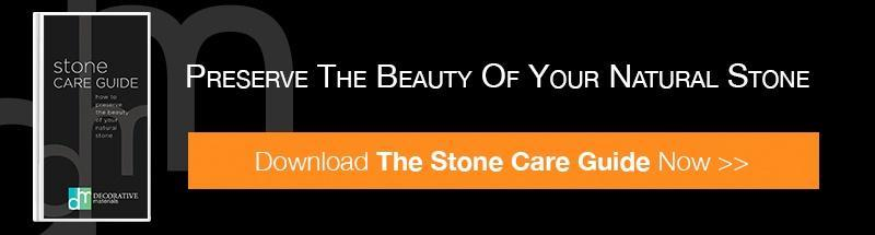 Preserve the beauty of your natural stone - download the stone care guide