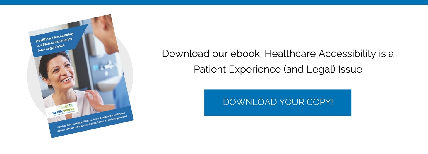 Healthcare accessibility ebook cover and click to download ebook