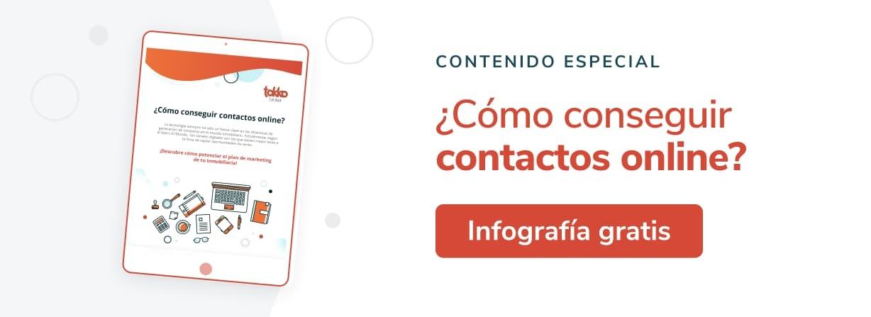 Cómo conseguir contactos online: Infografía gratis
