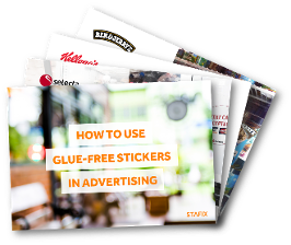 How to use glue-free stickers in advertising