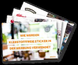 Wie klebstofffreie Sticker in der Werbung verwendet werden