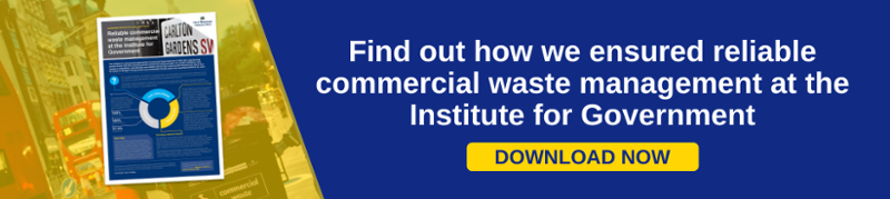 Institute for Government commercial waste management