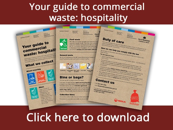 Download our guide to hospitality waste management