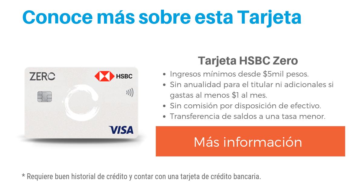 Tarjeta HSBC Zero