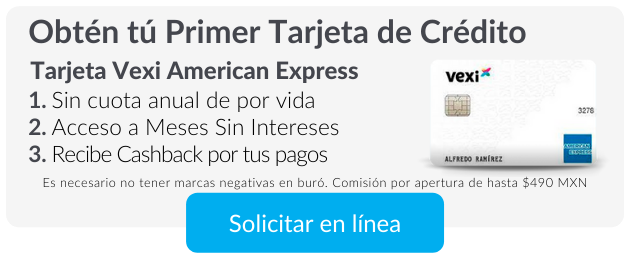 Tarjeta Vexi American Express