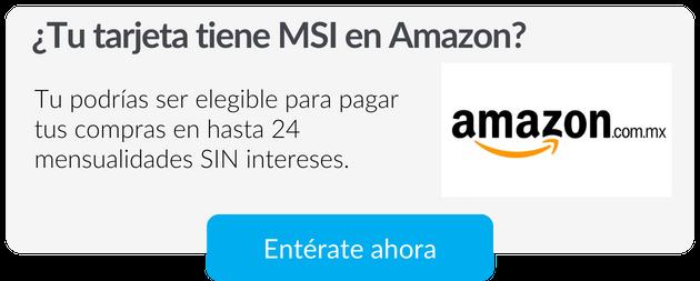 Meses sin intereses Amazon