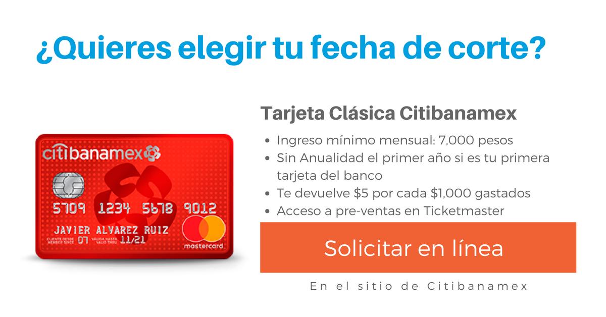 Tarjeta Citibanamex Clásica