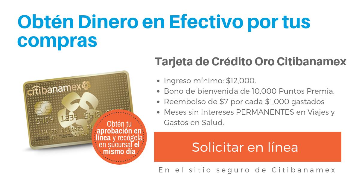 afa63c805963b Tarjeta De Credito Banamex Oro O Platinum - prestamos ing direct