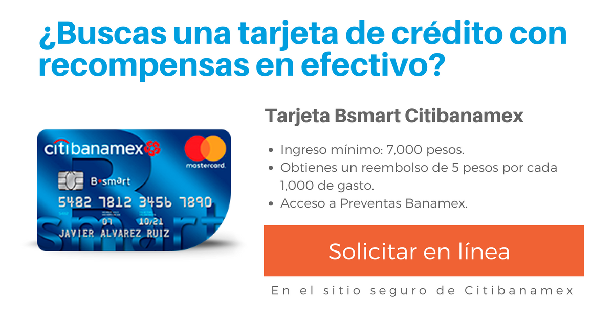 Tarjeta Bsmart Citibanamex
