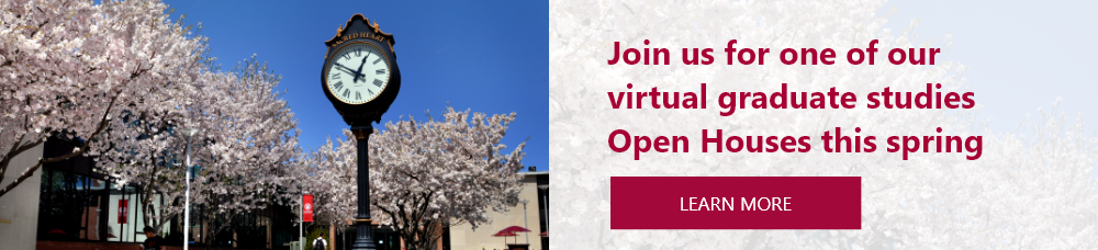 Join us for one of our virtual spring graduate studies open house sessions