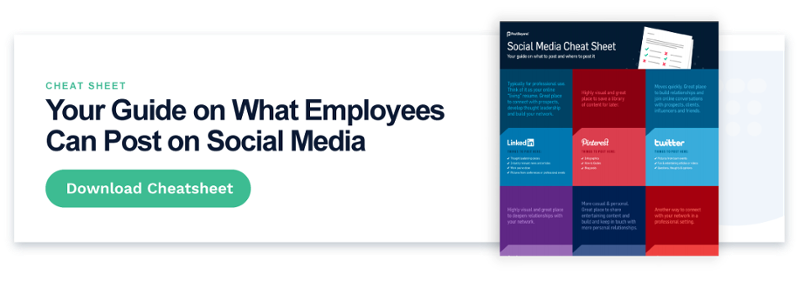 social media cheat sheet for employees