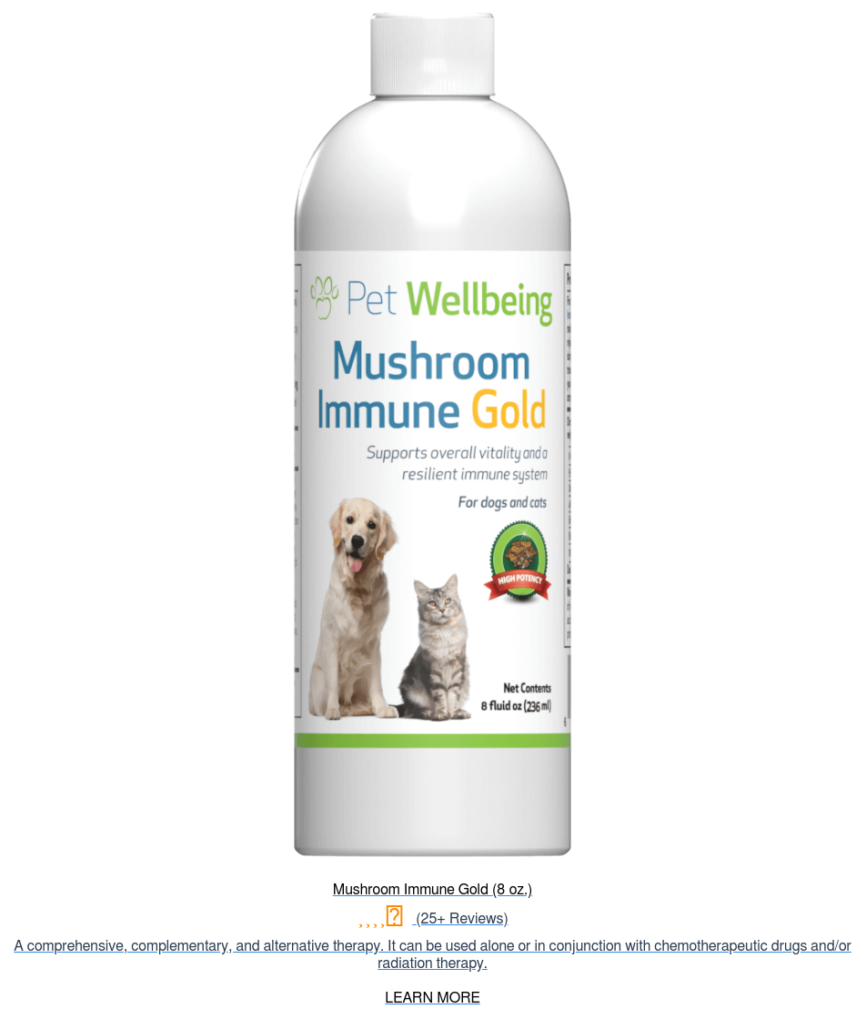 Mushroom Immune Gold (8 oz.) (25+ Reviews) A comprehensive, complementary, and  alternative therapy. It can be used alone or in conjunction with  chemotherapeutic drugs and/or radiation therapy.  LEARN MORE