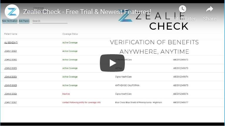 Zealie Check Demo Video