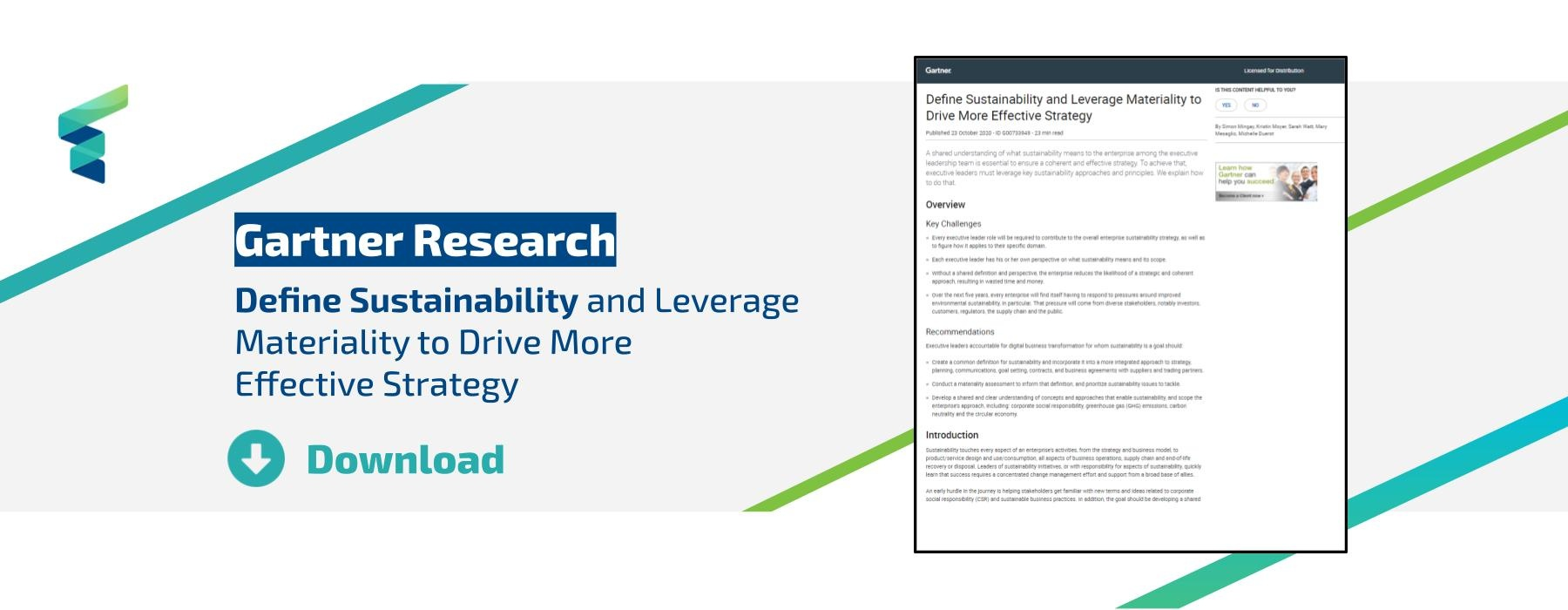 Download the Gartner Research on Sustainability