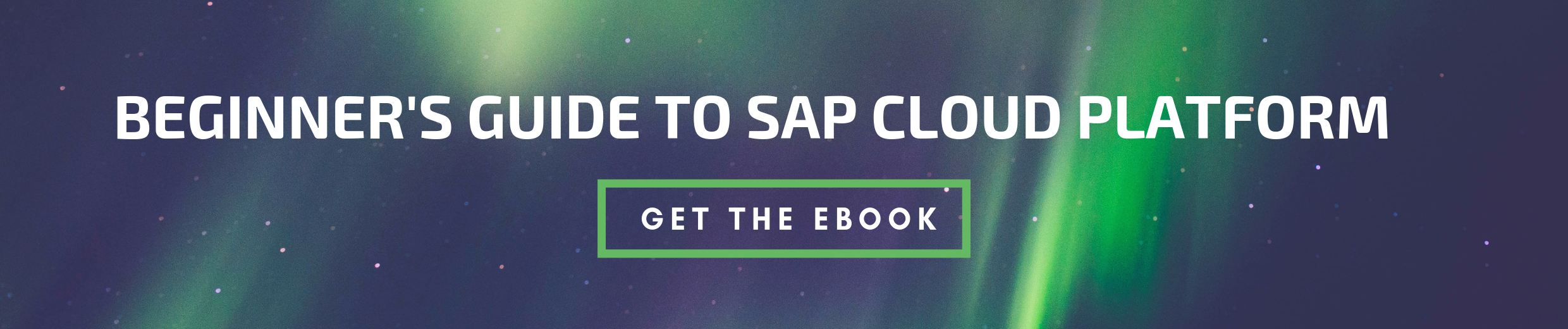 Get the Beginner's Guide to SAP Cloud Platform