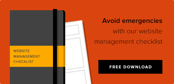 Avoid emergencies with our website management checklist