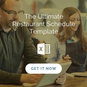 ultimate restaurant schedule template