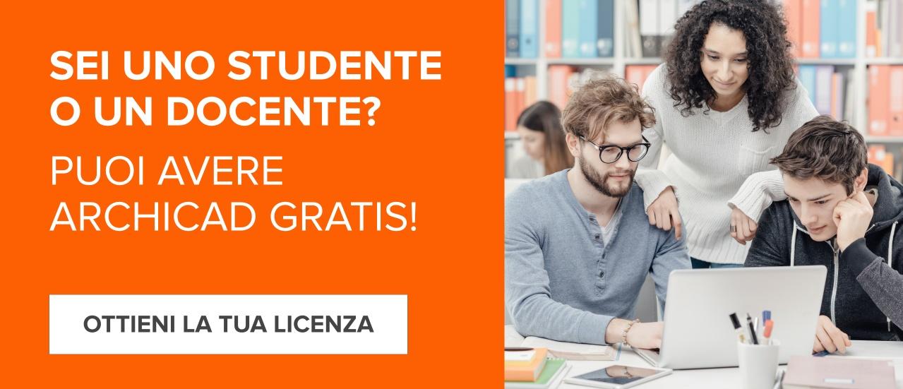 Scopri Archicad gratis per Studenti e Docenti