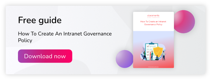 Free intranet governance policy guide