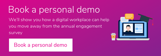 Book a personal demo - engagement survey
