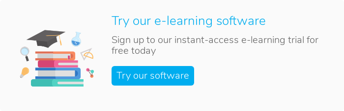 Try our e-learning software Sign up to our instant-access e-learning trial for free today Try our software
