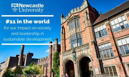 Newcastle University Press Office : Newcastle University has been ranked 11th in the world for its impact on society and leadership in sustainable development.
