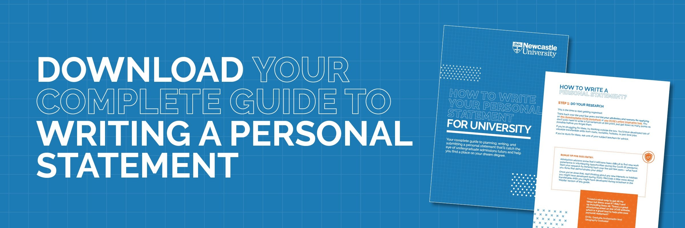 download your guide to writing a personal statement