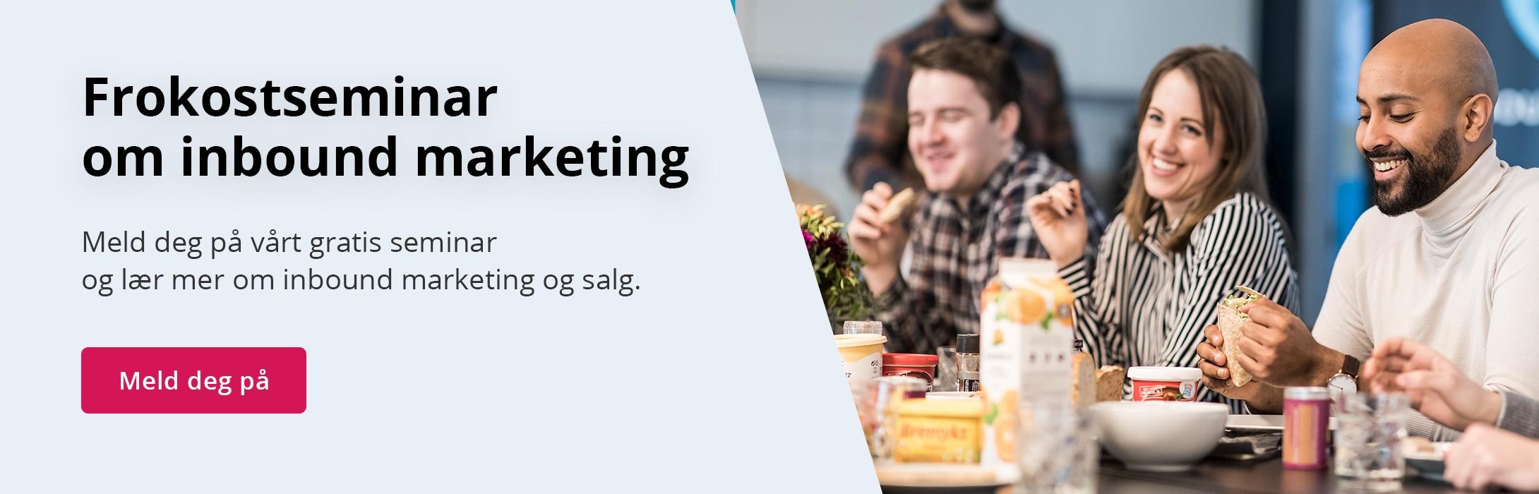 frokostseminar inbound marketing og salg