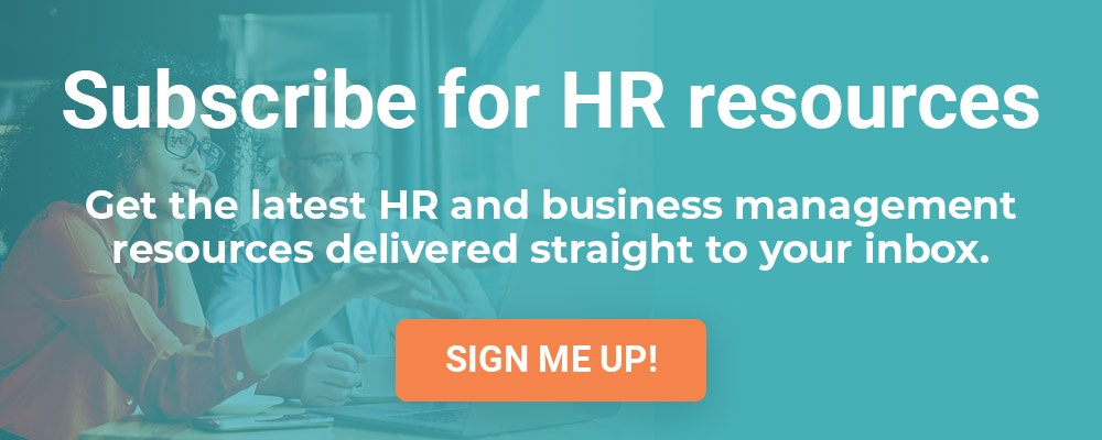 Free HR resources sign up banner