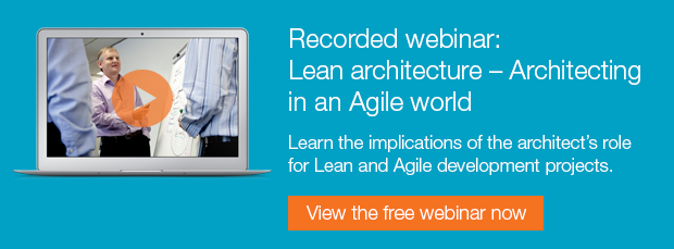 Recorded webinar: Lean architecture - Architecting in an Agile World