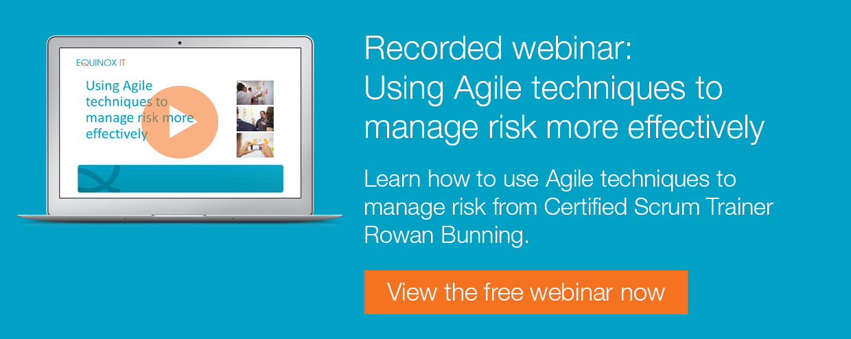 Recorded webinar: Using agile techniques to manage risk more effectively