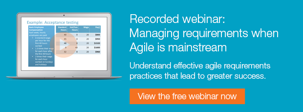 Free recorded webinar: Managing requirements when agile development is mainstream