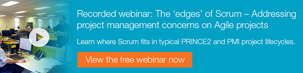 Recorded webinar: The 'edges' of Scrum - Addressing project management concerns on Agile projects, view the free webinar now.