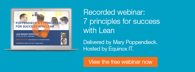 """Free recorded webinar"""" 7 principles for success with Lean"""