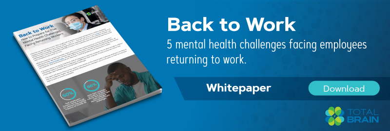 5 mental health challenges facing employees returning to work