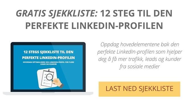 Perfekt LinkedIn profil