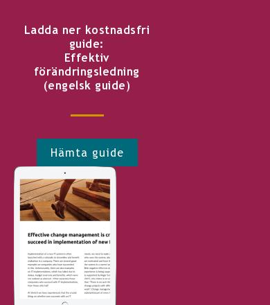 Ladda ner kostnadsfri guide: Effektiv förändringsledning (engelsk guide) Hämta guide <http://info.stretch.se/se-guide-effektiv-forandringsledning>