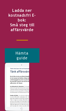 Ladda ner kostnadsfri E-bok: Små steg till affärsvärde Hämta guide <http://info.stretch.se/se-guide-sma-steg-till-affarsvarde>