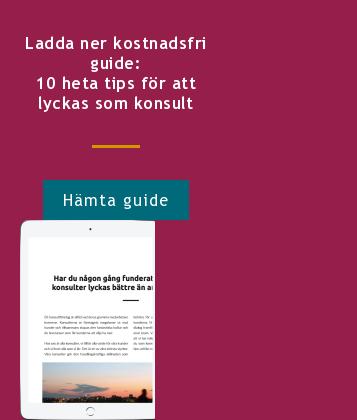 Ladda ner kostnadsfri guide: 10 heta tips för att lyckas som konsult Hämta guide <http://info.stretch.se/se-guide-10-heta-tips-lyckas-som-konsult>
