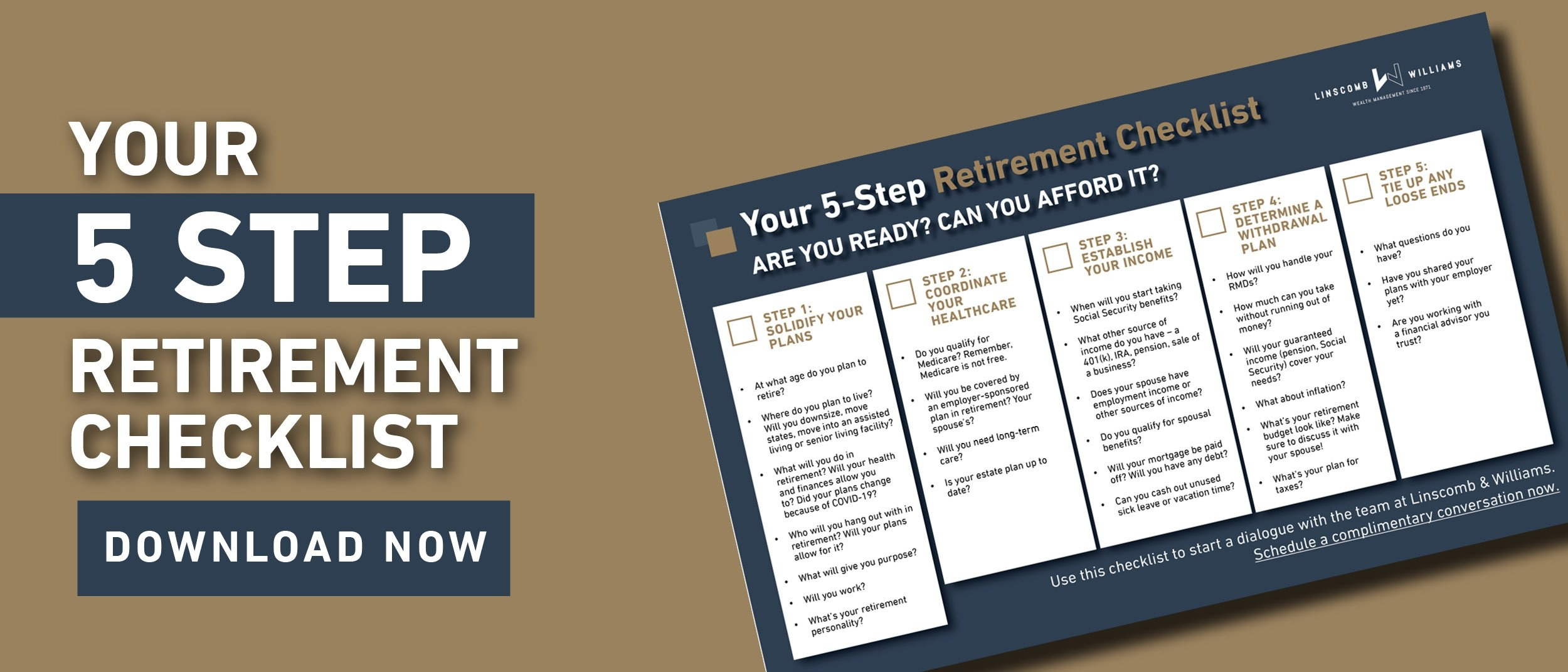 Complimentary Offer: Your 5-Step Retirement Checklist
