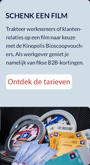 Bioscoopcheques Kinepolis