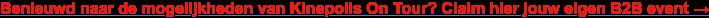 Benieuwd naar de mogelijkheden van Kinepolis On Tour? Claim hier jouw eigen B2B  event →